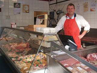 Michael in Ryans Craft butchers 2015