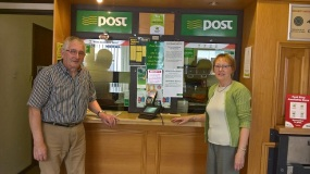 Gregory and Lillian Fitzgerald on 7thJuly2017 -Retirement Day from Post Office