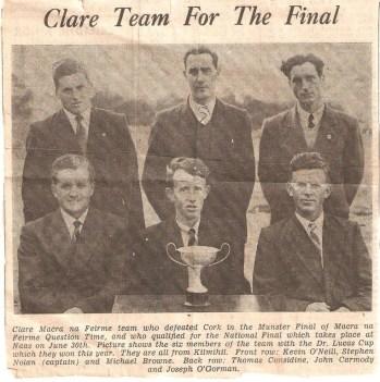 Macra na feirme final team 1959