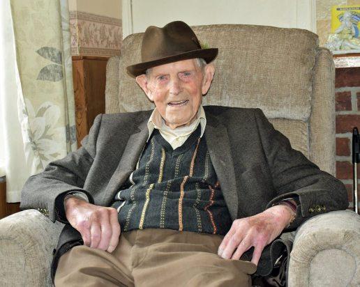 Pakie Wall of Ballydineen Kilmihil on his 100th birthday on 25 Feb 2019 (c) Martin Murray